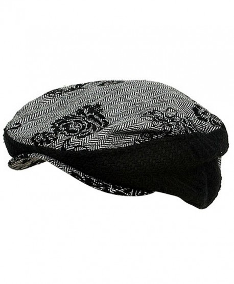 Embroidered Herringbone Ivy Hat-Black - CH111ZIFDIR