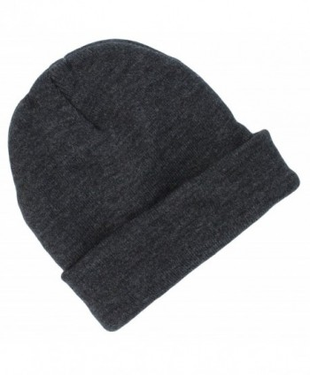 Tek Gear Men's Thinsulate Cuffed Knit Beanie Hat- in Charcoal Grey (OSFM) - C011H3J8O51