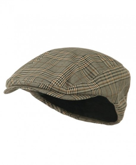 Mega Cap Khaki Plaid IVY newsboy Cap - CO11ENHCOHZ