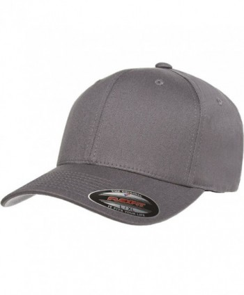 Flexfit/Yupoong Cotton Twill Fitted Cap - Grey - CE184EXRHUZ