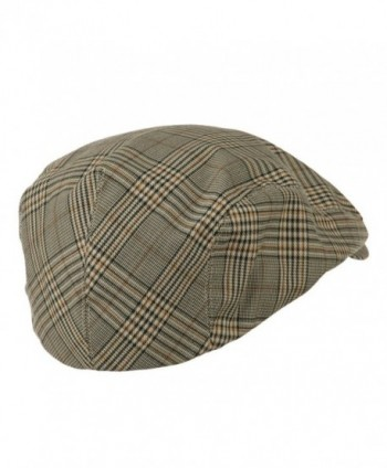 Mega Cap Khaki Plaid newsboy
