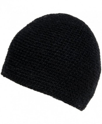 Nirvanna Designs CH713 Crochet Seed Beanie with Fleece - Black - CC11H7RDFKD