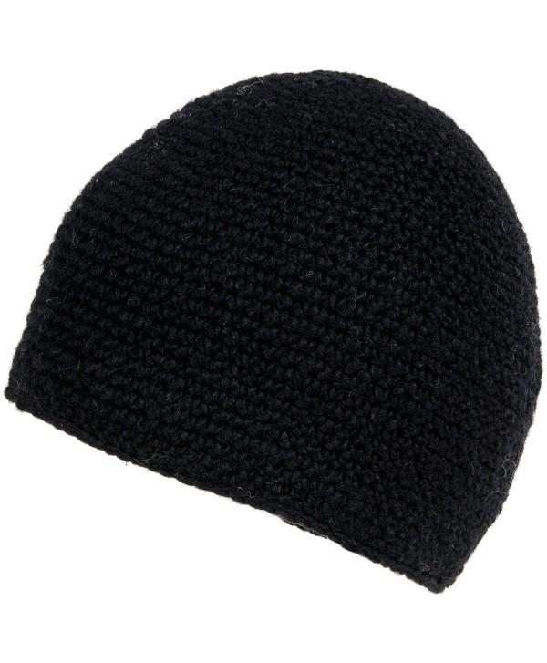 Nirvanna Designs CH713 Crochet Seed Beanie with Fleece - Black - CC11H7RDFKD