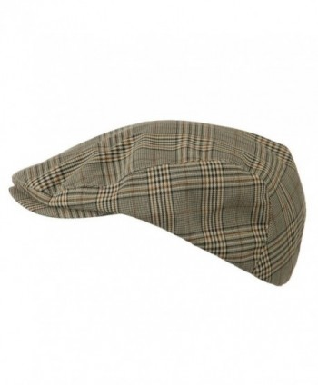 Mega Cap Khaki Plaid newsboy in Men's Newsboy Caps