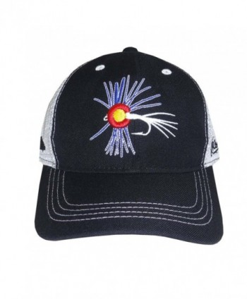 Aksels Colorado Fly Fishing Curved Bill Hat - Black - CJ1876YAMGT