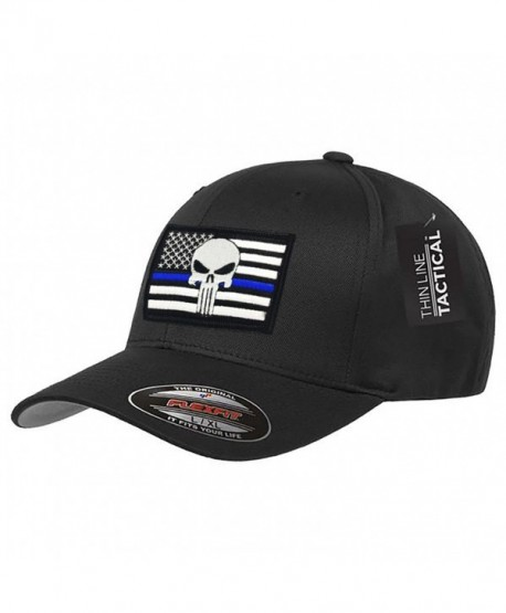 Punisher Thin Blue Line Flexfit Hat - CC182KWA3U3