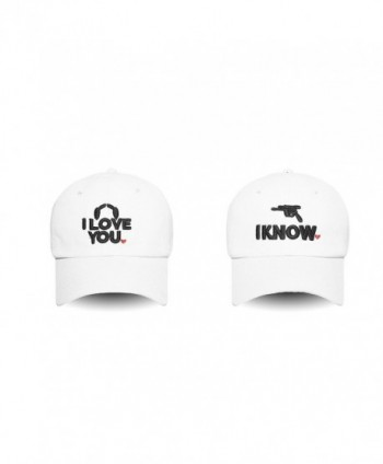 Lacesi Couple I Love You - I Know Embroidered Dad Hat 100% Cotton Baseball Cap For Men and Women - White - CN17Z34ISMZ