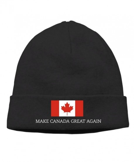 Sincerity-First Mens&Womens MAKE CANADA GREAT AGAIN FLAG Outdoor Daily Beanie Hat Skull Cap Black - Black - CE187R89D5C
