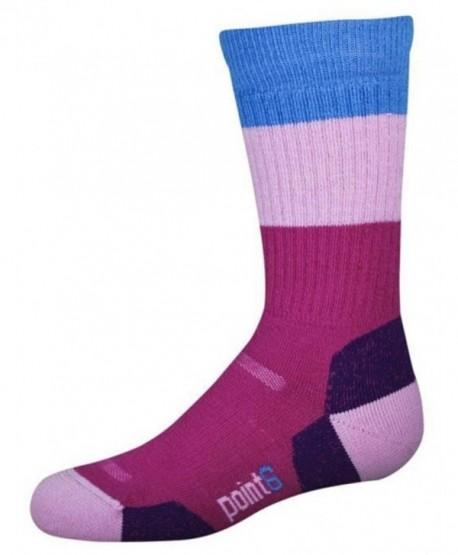 point6 Women's Active Medium Cushion Crew Socks - Lipstick - C911VX7Q56T