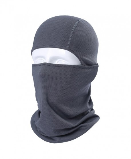 JIUSY Balaclava Face Mask Protection for Tactical Motorcycle Cycling Skiing Snowboard - Gray - CE17YWX47KR