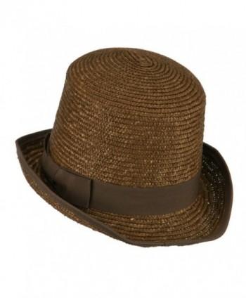 Wheat Braid Top Hat Fedora