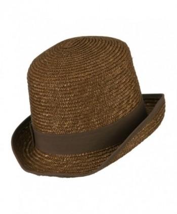 Wheat Braid Top Hat Fedora in Men's Fedoras