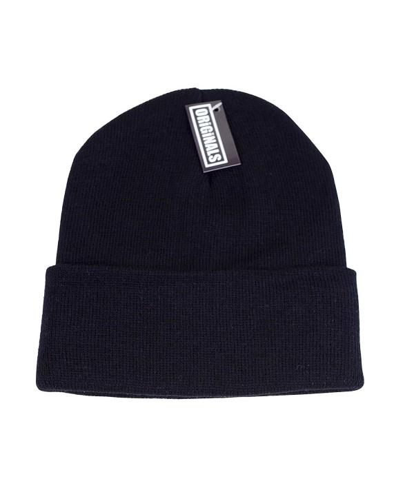 Originals Beanie Knitted Headwear Winter - Black - C812BX4YIW9