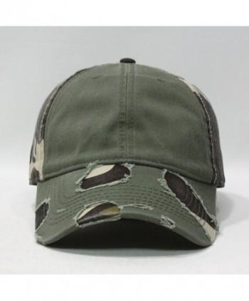 Camouflage Distressed Profile Baseball Adjustable