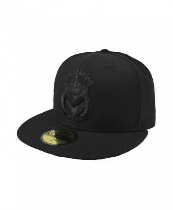 New Era 59Fifty Hat Monarcas Morelia Michoacan Mexican League Black Fitted Cap - CO18924NDQG