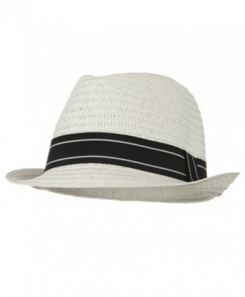 Open Weave Men's Fedora - White W19S71F - CN118E59GKF
