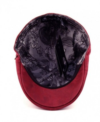 EPOCH Leather newsboy Hunting Burgundy in Men's Newsboy Caps