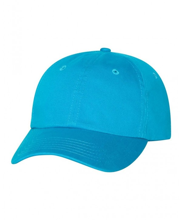 Classic Cotton Dad Hat Adjustable Plain Cap. Polo Style Low Profile -Unstructured - Neon Blue - C611WIGDZIZ