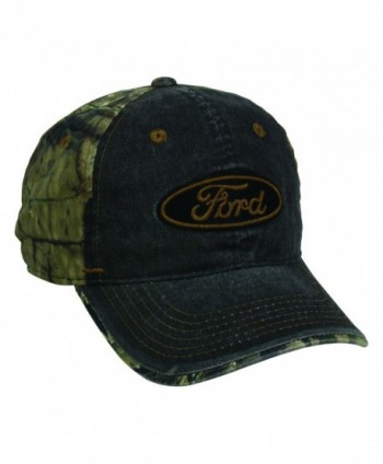 Ford Black Mossy Oak Break Up Country Fatigue Green Logo Cap Hat 179-Black / Realtree Xtra-One Size Fits Most - C917Z6MR2Q0