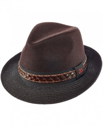 SANTANA FEDORA TWO TONE WITH BRAID HAT - Brown - CV12NH9JBI2