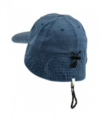 MG Washed Cotton Flap Hat Navy