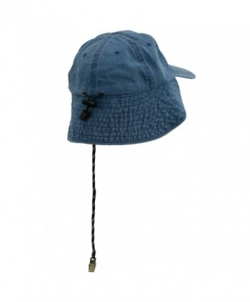 MG Washed Cotton Flap Hat Navy in Men's Sun Hats