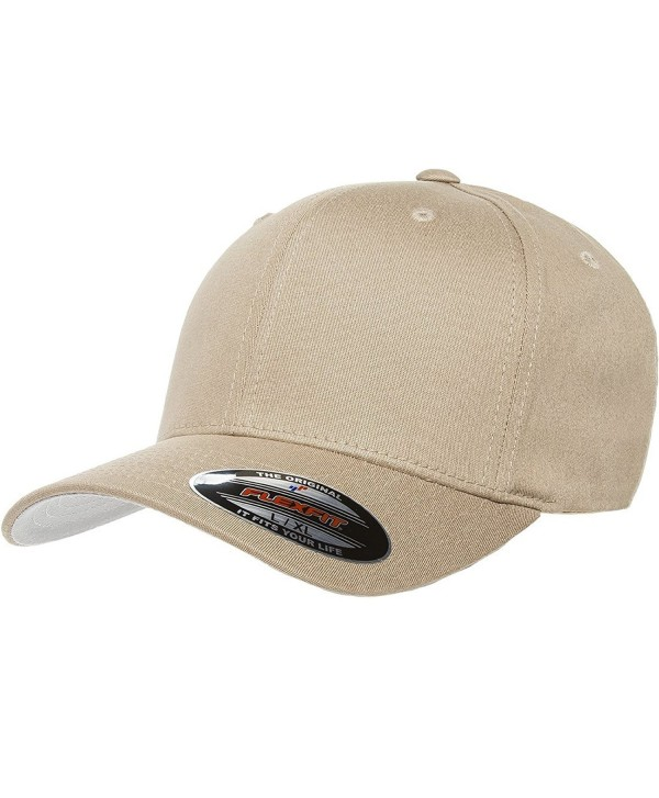 Premium Original Black Flexfit Fitted Hat for Men- Women and Youths - Bonus THP No Sweat Headliner - Khaki - CH184HCDLQH