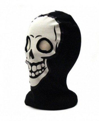 White Skeleton Face Gothic Beanie