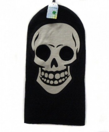 White Skeleton Face Gothic Beanie in Men's Balaclavas