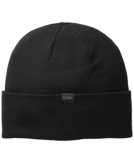 Coal Men's Mesa Merino Wool Beanie - Black - CQ11VJ0M0Q9