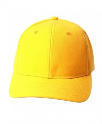 TopHeadwear Solid Yellow Adjustable Hat - CV111GX2Y8N