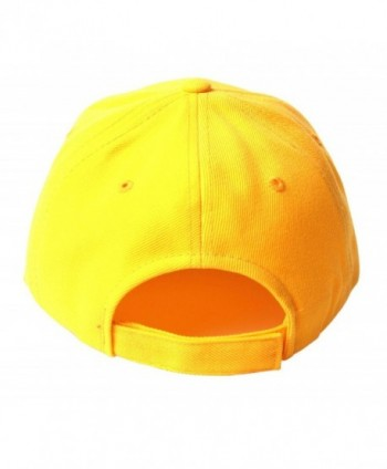 TopHeadwear Solid Yellow Adjustable Hat in Men's Baseball Caps