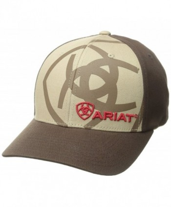 Ariat Men's Tan Corner Shadow Logo Hat - Tan - CI11L4MDVKL