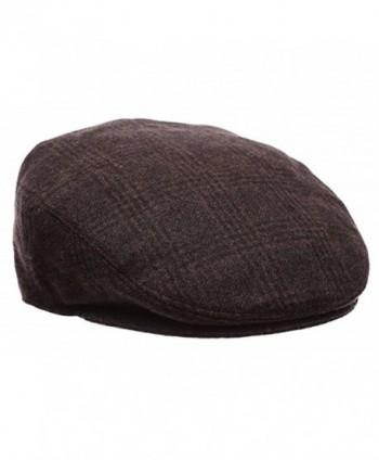 d0408c143cc ... Snap Brim Herringbone Tweed Cap -  Premium Classic Newsboy Collection  1930 Brown ...
