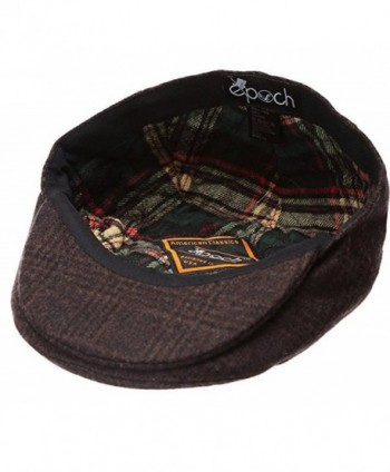 b8f6ad7f Available. Epoch Men's Classic newsboy Cap- Flat IVY Hat- Snap Brim Herringbone  Tweed ...