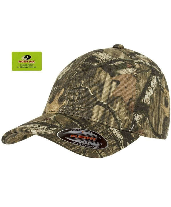 Flexfit Fitted Low Profile Mossy Oak Camo Cotton Hat with Curved Visor - Mossy Oak Infinity - CA12LCDNKFR