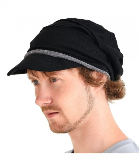 Casualbox Mens Womens Slouch Beanie Hat Peak Breathable Japanese Fashion - Black - CL183XT6CZN