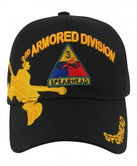 "US Army 3rd Armored Division ""Spearhed"" Baseball Cap- One Size- Black - C011L8O5V9T"