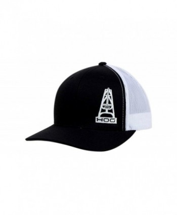 Hooey HOG Black and White Mesh Trucker Snapback Cap - CG11QDVMWY9