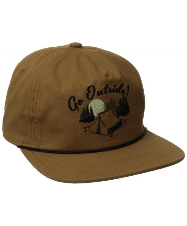 Coal Men's Great Outdoors Cap - Light Brown/Camping - CB11PKOTGG7