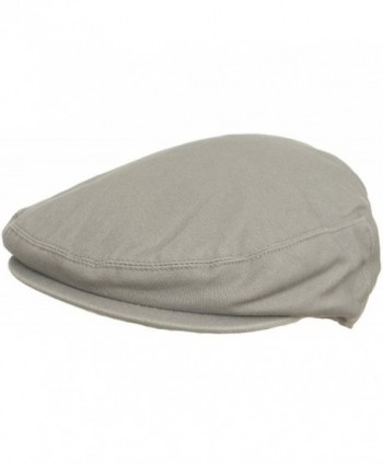 Summer Cotton Ivy Scally Driving Hat Newsboy Golf Cap - Light Grey - CE12G0EDY77