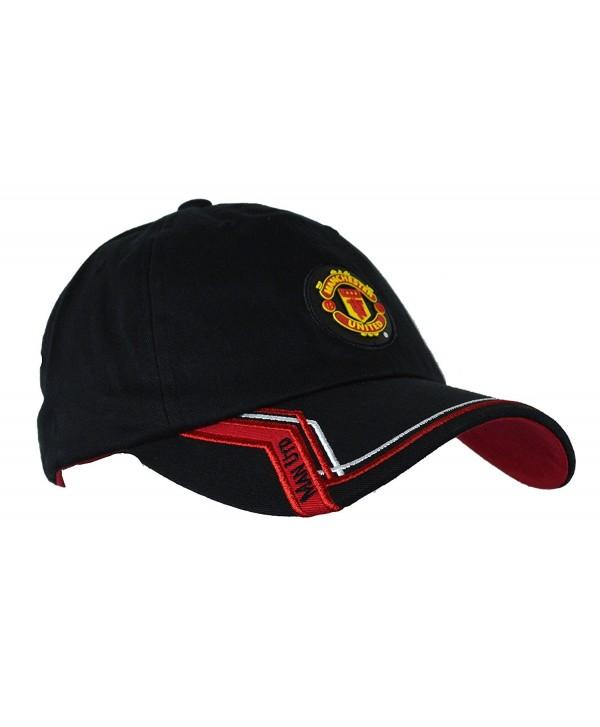 Manchester United Hat Cap Adjustable Rhinox Group Cap MUFC 100 % Cotton Garment Wash - BLACK 1893 - C212M96XZKB
