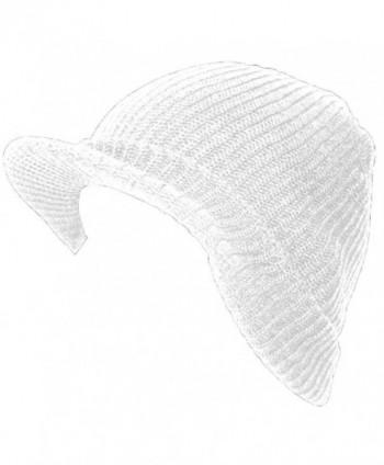 TopHeadwear GI Ribbed Jeep Waffle Cuff Beanie Visor - White - C411BJCSJ4J