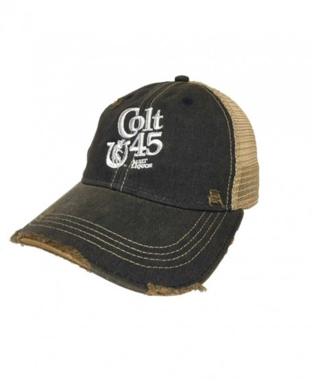 Original Retro Brand Colt 45 Malt Liquor Brewing Company Retro Brand Vintage Mesh Beer Adjust Hat Cap - CI12N202UP7