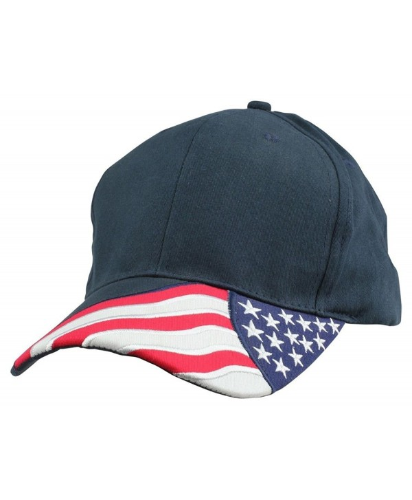 2 Packs - ImpecGear USA Flag Patriotic Baseball Cap/ Hat (2 PACK FOR PRICE OF 1) - Flab.b--navy - CM185YH7IR7
