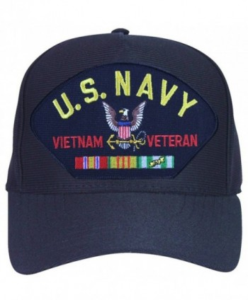 U.S. Navy Vietnam Veteran Cap with Logo and Ribbons Ball Cap. Made in USA - CL12MA6IMYL