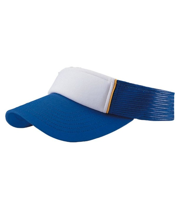 ATHLETIC PRO STYLE COTTON/MESH VISOR - Royal/White - CY11CK9X9I1