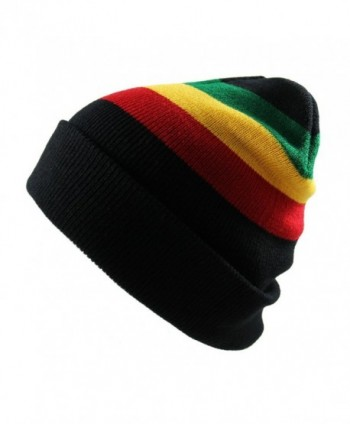 Men's Rasta Long Beanie Black - CA11VV2S2J9