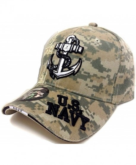 Anchor United States Navy 3D Embroidered Baseball Cap Hat - Camo - CH185CGO98K