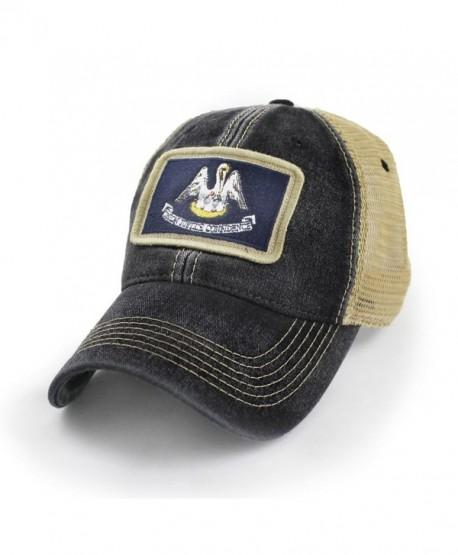 State Legacy Revival Louisiana Flag Patch Trucker Hat- Black - CK183LLTYTZ